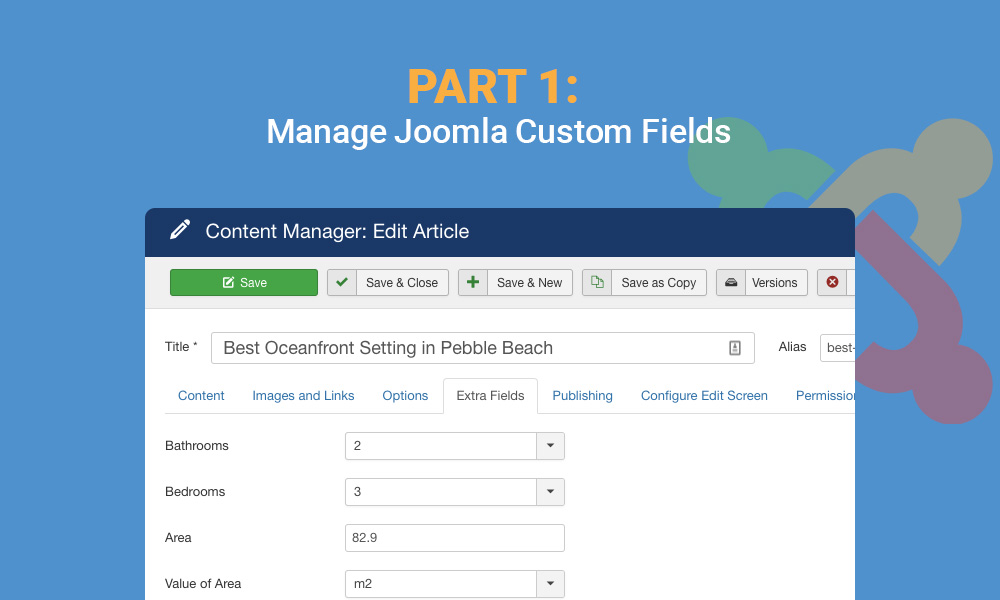 joomla custom fields tutorial