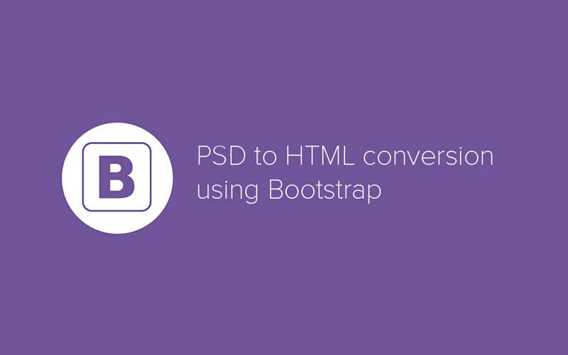 convert psd to html using bootstrap
